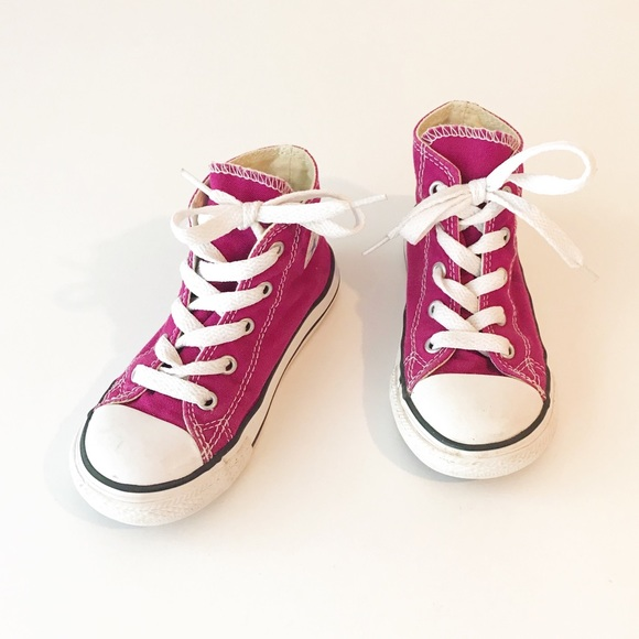 Tiny Converse Size 9 Magenta Pink High Top Sneaker